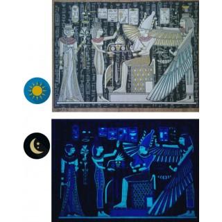"Papyrus phosphorescents ""collection Egypte ancienne"" - 10 fresques"