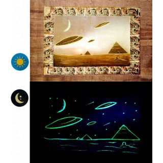 "Papyrus phosphorescents ""collection Pyramides et Extraterrestres"""