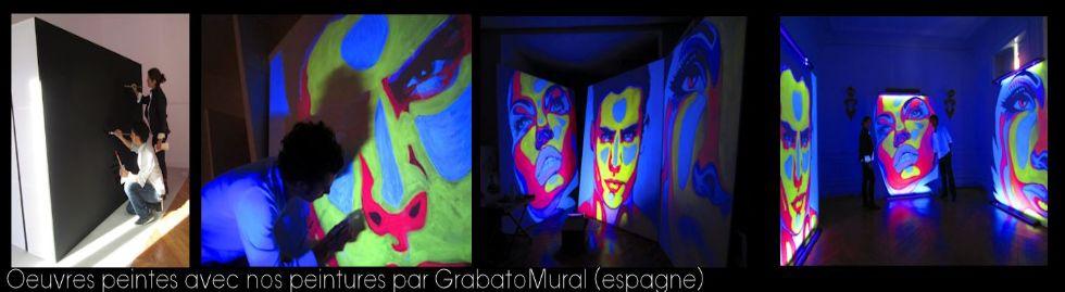 Produits phosphorescents peinture fluo phosphorescent for Peinture fluorescente exterieur