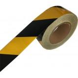 Ruban de signalisation Danger adhésif et réfléchissant hachuré jaune noir