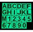 Lettres et chiffres phosphorescentes en PVC
