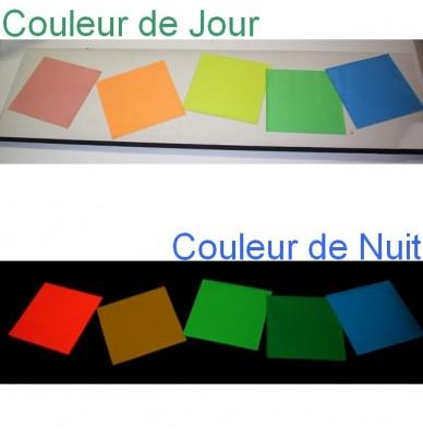Films adhésifs photoluminescents Coloré de jour 1.25m x 50m