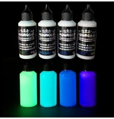 Peinture à l'eau phosphorescente DECO KIT 4 couleurs X50ml