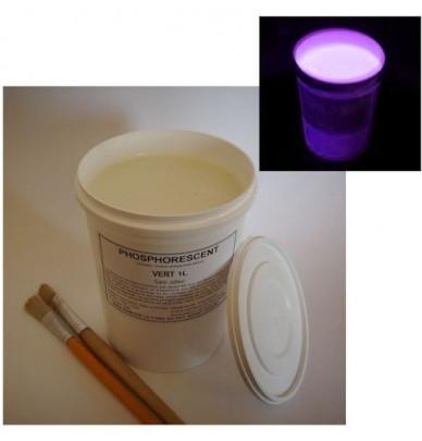 Peinture à l'eau phosphorescente DECO 1L VIOLET