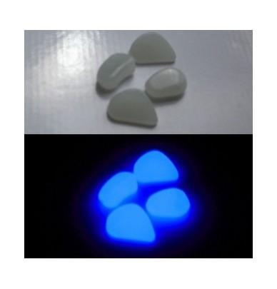 200g Petits Galets phosphorescents bleu