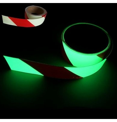 Bande adhésives photoluminescente à rayures