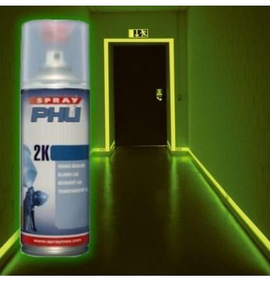 Peinture en spray de marquage photoluminescent phu2k for Peinture fluorescente exterieur