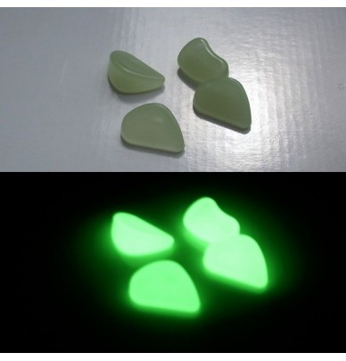 200g Petits Galets phosphorescents Vert