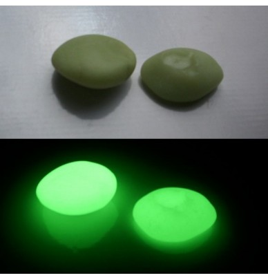 200g Gros Galets phosphorescents Vert