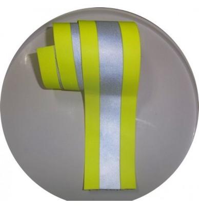 Bande à coudre rétroréfléchissante jaune et grise