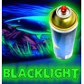 Peinture blacklight en spray - 8 couleurs