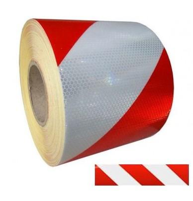 Bande autocollante réfléchissante rouge-blanc Gauche