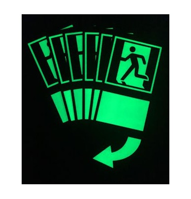 Panneau Ouverture de porte photoluminescente