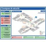 Plan d'évacuation photoluminescent et consignes