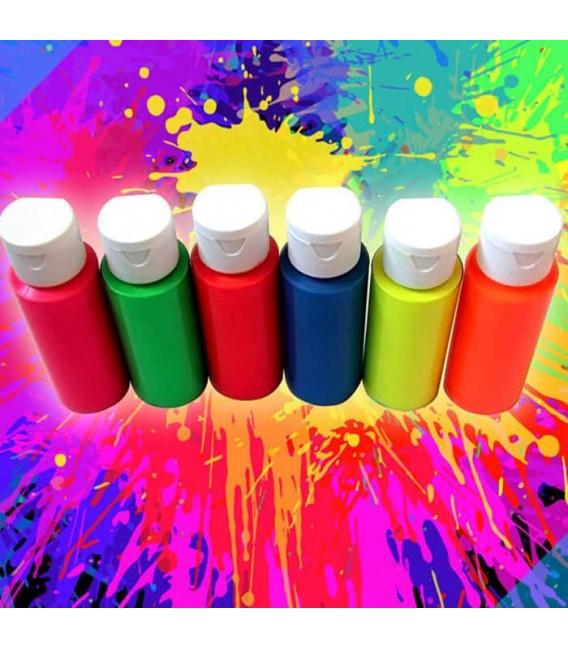 Peinture fluo peintures fluorescentes - Peinture murale rose fluo ...