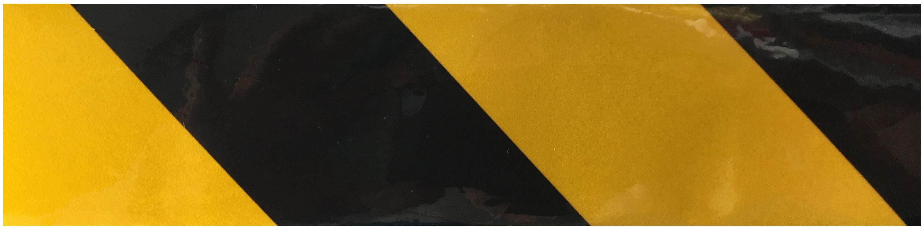 Bande réfléchissante jaune/noire DANGER