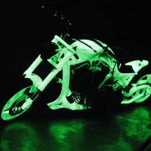 Peinture phosphorescente voiture et moto