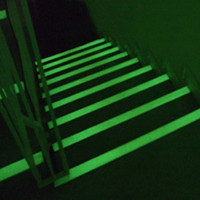 Bande photoluminescente anti-dérapante adhésive Aluminium-Epoxy