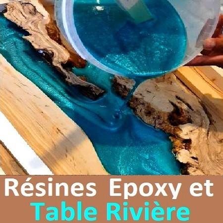 Résines Epoxy et Table Rivière